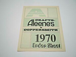 "AURORA Original 1970  "" Aleene's & Coppersmith "" double sided color Dealer Order"