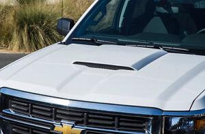 Fits 14-15 Silverado 1500 3dCarbon Urethane Custom Series II Hood Scoop 692090