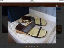 Sandales Neuves Cuir Brun Compensées.t 37.(2/V)