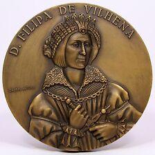 BRONZE MEDAL / D. FILIPA DE VILHENA / Portuguese noblewoman by Cabral Antunes