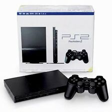 Black Sony PS2 SLIM PlayStation 2 Console System Complete Bundle Lot - LIKE-NEW