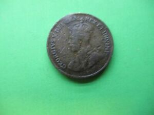 Canada 1 small cent 1925.  Grade VG. Nice price for this very circ. coin