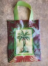 10 Nashville Wraps Plastic Reusable Gift Bags Cub Botanical Oasis Palm Tree