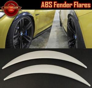 """Pair Of ABS Painted White 1"""" Diffuser Wide Fender Flares Extension  For Dodge"""