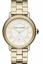 Marc Jacobs Riley Gold-Tone Stainless Steel Bracelet Watch 36mm MJ3470 NEW!