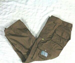 "NEW NWT BURTON Women's XS STOW CARGO Board Snow Ski Pants in Brown 28"" x 30"""