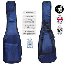 """Deluxe Padded Bass Guitar Bag 46"""" Blue 4 5 6 string fender gibson quincy all"""