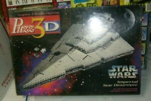 1996 PUZZ 3D Star Wars Imperial Star Destroyer 823-Piece 3D Puzzle Brand New