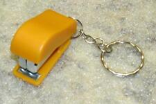 Mini Orange STAPLER School Office for Paper KEY CHAIN Ring Keychain NEW