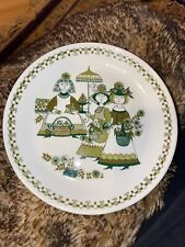 "Vintage Figgjo Flint Turi-Design Green Market 7"" Side Salad Plate Norway"