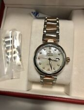 Like New Authentic Omega Ladymatic Diamond 34mm Watch  Rose gold RRP SGD20550