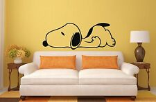 SNOOPY Wall Art Stickers, Decals, Murals, 4 x Sizes, Walls, Mirror, Tile, Glass