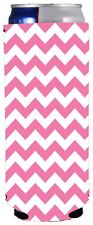 Chevron Stripe Pink Can Coolie;Compatible with Ultra