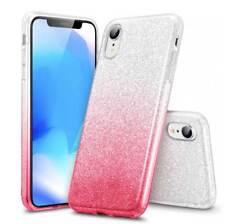 COVER Custodia Glitter GRADIENTE Morbida GEL Silicone per APPLE IPHONE XR Rosa