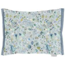 Voyage Sprinkle Pacific C160158 Feather Cushion. Hartley Bluebell Back 60 x 40cm