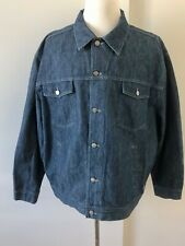 VINTAGE ICEBERG ICE JEAN JACKET SIZE 56 3XL MADE IN ITALY HIP HOP