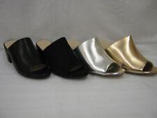Mules No Pattern Block Synthetic Upper Heels for Women