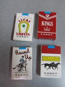 Original CANDY CIGARETTES 4 PACKS Nostalgic Retro-Vintage Candy Soda Shop