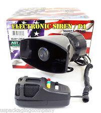 5 Sound Car Alarm Fire Police Megaphone Horn Siren MIC Speaker PA System Kit
