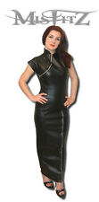 Misfitz leather look zip cheongsam hobble dress sizes 8-32 / made to measure/TV