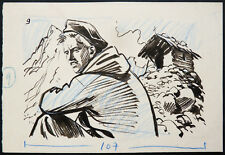 Dessin original de Noël GLOESNER (1917-1995) illustration 9 pour Frimousse