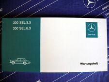 Mercedes Scheckheft / Wartungsheft W109 300SEL 6.3 300SEL 3.5 NOS! NEU!