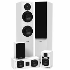 Fluance SXHTBWH Surround Sound Home Theater Speaker System (White)