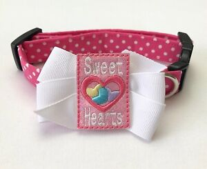 Sweet Hearts Valentine's Day Dog Collar Size XS-L by Doogie Couture