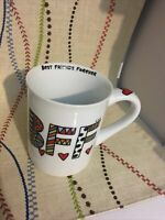 """""""BEST FRIENDS FOREVER BFF"""" Large White Mug Coffee Cup , By Our Name is Mud ."""