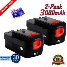 2X 18V Battery for BLACK & DECKER Firestorm Cordless Drill A1718 A18 HPB18 NS118