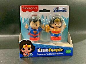 Fisher-Price SUPERMAN & WONDER WOMAN Little People DC Super Friends NEW 2020 NIP