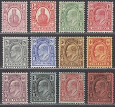 Turks and Caicos Islands 1909-11 KEVII Set Mint SG115-126 cat £110