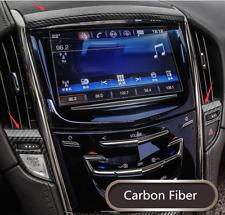 3PCS Carbon Fiber Dashboard GPS Navigation Cover For Cadillac ATS-L 2014-2018