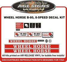 WHEEL HORSE B-80   8 SPEED TRACTOR DECAL SET   reprocduction