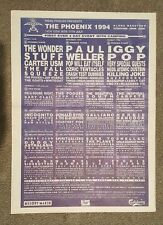 Phoenix Festival 1994 press advert Full page 30 x 42 cm mini poster