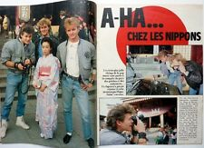 A-HA in Japan => 7  pages French 1986 CLIPPING //  COUPURE DE PRESSE