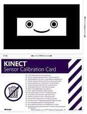 XBOX 360 KINECT SENSOR CALIBRATION CARD OFFICIAL ORIGINAL GENUINE CARD