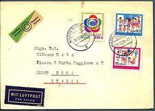 DDR - 1968 - Lettera (16.12.1968) affrancata per 50 pf.  con franc. del periodo
