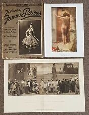 Vintage World's Famous Pictures Magazine Issue 1 - 15/03/27 + Original Plates
