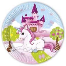 unicornio 8 platos de papel fiesta Desechable Vajilla