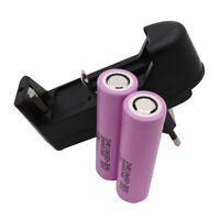 2X 18650 INR Battery High Drain 3000mAh 3.7V 30Q Li-ion Rechargeable + Charger