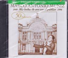 Marco Antonio Muniz 1946 Mis Bodas de oro con el Publico CD New Nuevo Sealed