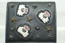 New Christian Louboutin Men's Wallet Paros Embellished Spiked Black CC Holder