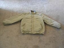Men's VanHeusen Jacket Quilted Lining Light Tan Cell Phone Pocket XL