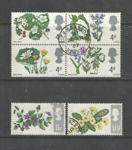 Great Britain   Wild Flowers  1967  Set   VF Used
