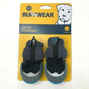 "Ruffwear Polar Trex Winter Dog Boots Pairs In Obsidian Black Sz 1.5"""