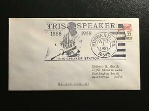 Tris Speaker 1888-1958 - Hubbard, TX postmark