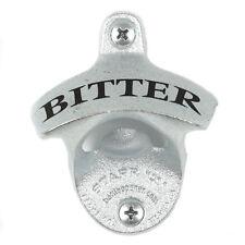 "NEW ""BITTER"" STARR X WALL MOUNTED BEER BOTTLE OPENER BAR DECOR HOME BREW"