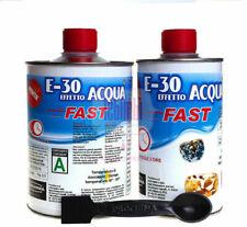 NEW PROCHIMA E-30 FAST RESINA EPOSSIDICA TRASPARENTE EFFETTO ACQUA A + B 320 gr