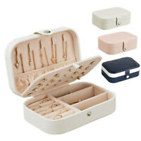 Earring Ring Jewelry Display Storage Box Case Organizer Flannel Tray Holder Hot
